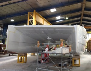 The Hull has emerged from the mould.