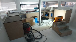 Galley and Nav Station under construction