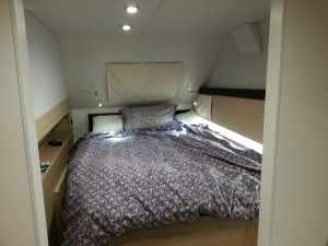 My bed is made for my first night aboard